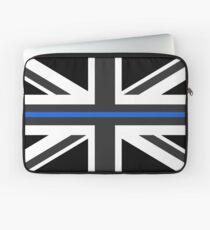Thin Blue Line Union Jack UK Flag Laptop Sleeve