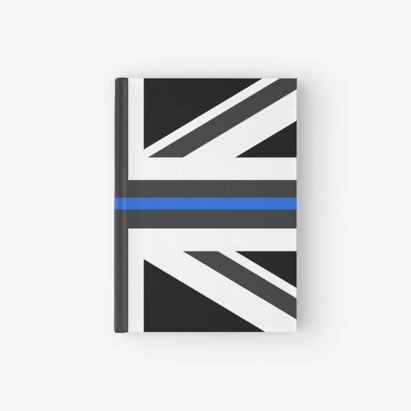 Thin Blue Line Union Jack UK Flag Hardcover Journal