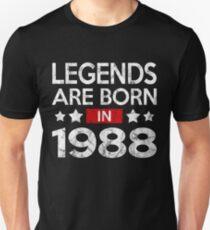 LEGENDS ARE BORN 1988 T-Shirt