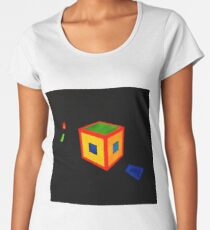 """""""Night Thoughts"""" abstract fine art painting Women's Premium T-Shirt"""