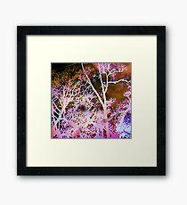 Season's Change: Abstract with Creepy Tree II  Framed Print