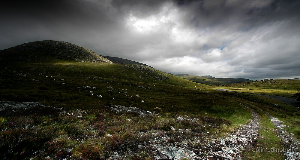 Storm light in the strath... by colin campbell