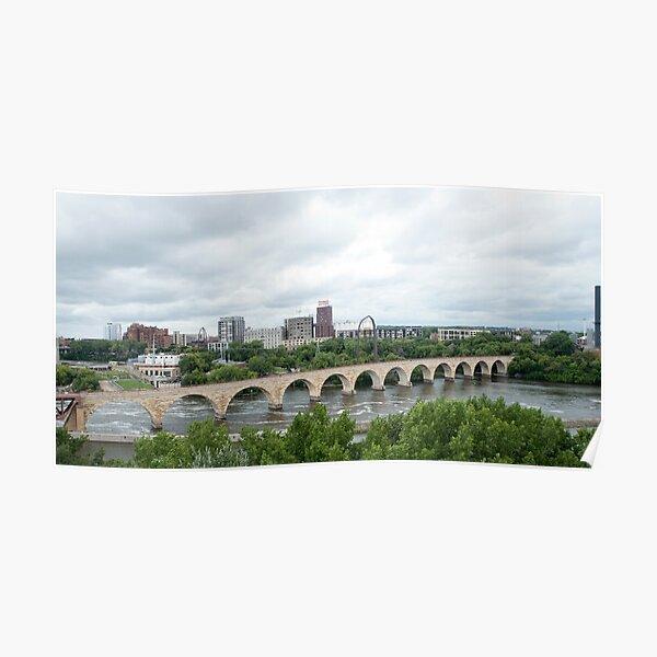 Historic Stone Arch Bridge - Minneapolis, MN, USA Poster