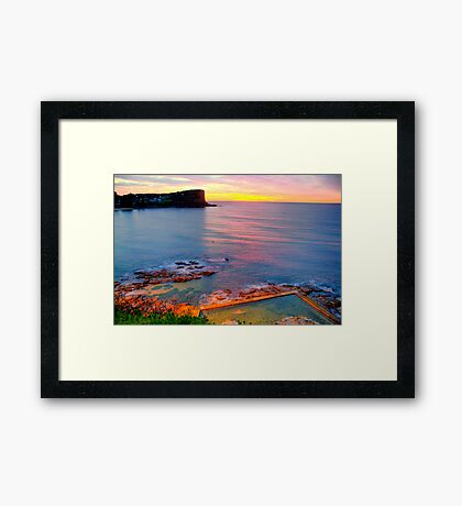Marvel - Avalon  Beach - Sydney Beaches - The HDR Series Framed Print