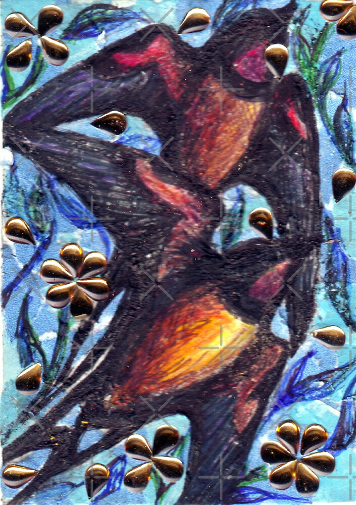 Birds in Spring by DreddArt