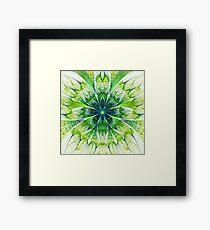 Green flower Framed Print