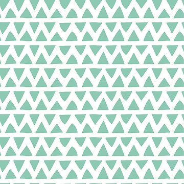 Shapes Pattern Nr. 1 - Teal Triangles by MonJaro