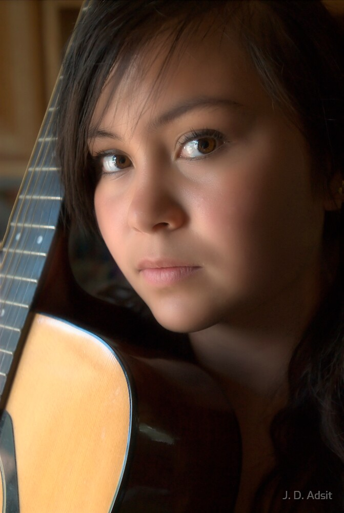 A Girl & her Guitar by J. D. Adsit