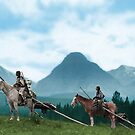 Waiting For The Hunters - Blackfoot Indian Women by DanKeller