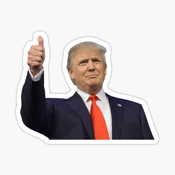 Trump Thumbs Up Sticker