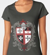 Knights Templar Cross Shield T-Shirt Women's Premium T-Shirt