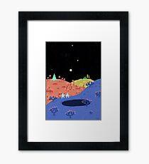Moon Walk Framed Print
