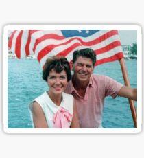 Ronald and Nancy Reagan Sticker