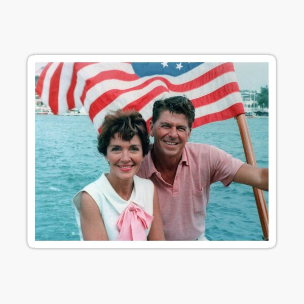 Ronald and Nancy Reagan Sticker