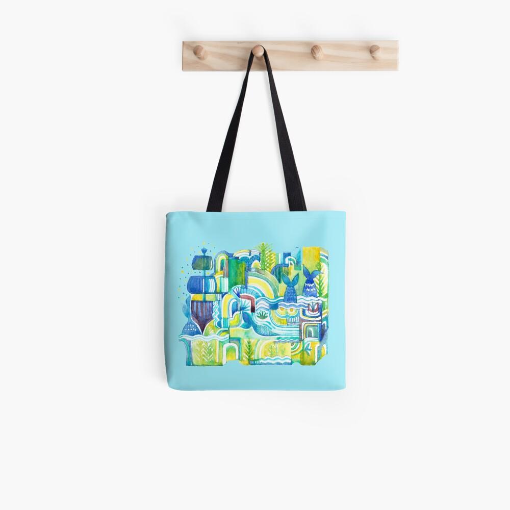 Sea Adventure - Watercolor Illustration Tote Bag