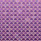 Purple Rose Gold Mermaid Scales by blueskywhimsy