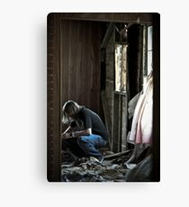 Thinking Of The Past Canvas Print