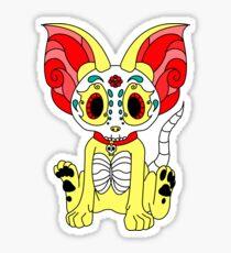 Dia De Los Muertos Chihuahua Sticker