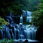Puracaunui Falls.....New Zealand.....South Island by Imi Koetz