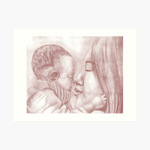 Closeness of Mother and Baby Art Print