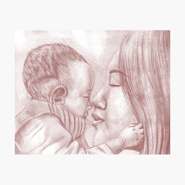 Closeness of Mother and Baby Photographic Print
