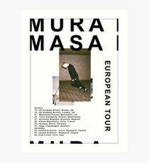 Mura Masa Europe Tour Poster Art Print