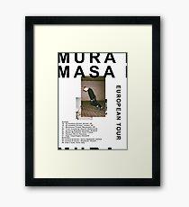 Mura Masa Europe Tour Poster Framed Print