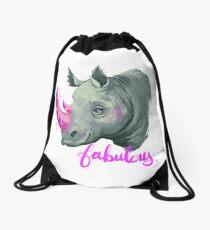 Fabulous Rhino Drawstring Bag