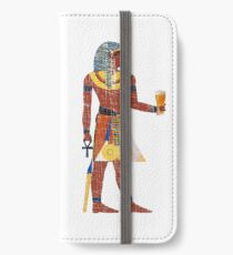 Egyptian Drinking Craft Beer Graphic iPhone Wallet/Case/Skin