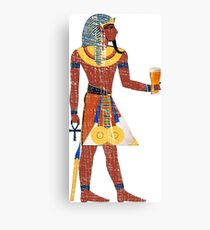 Egyptian Drinking Craft Beer Graphic Canvas Print