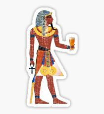 Egyptian Drinking Craft Beer Graphic Sticker