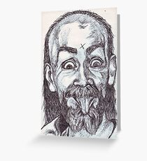 Charlie Manson Drawing Greeting Card