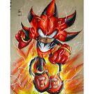 Red Lantern Shadow by Grekoarts