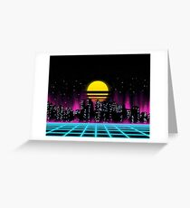 Outrun The Sun Greeting Card