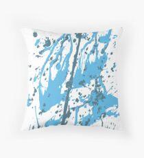 color blot spots blue Throw Pillow