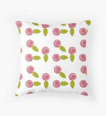 Rose Buds Throw Pillow