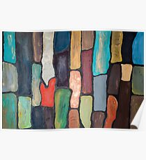 Acrylic Bricks in Colors, Abstract Color Block  Poster
