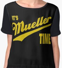 it's Mueller Time - GOLD Women's Chiffon Top