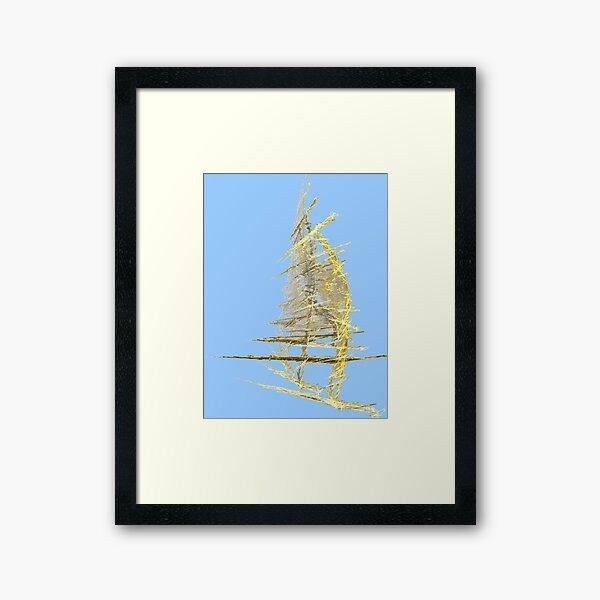 *SAILING IN TIME AND SPACE* Framed Art Print