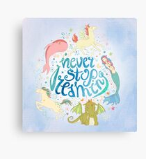 Never Stop Dreaming Canvas Print