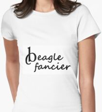 beagle fancier Women's Fitted T-Shirt