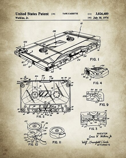 Cassette Tape Patent by Igor Drondin