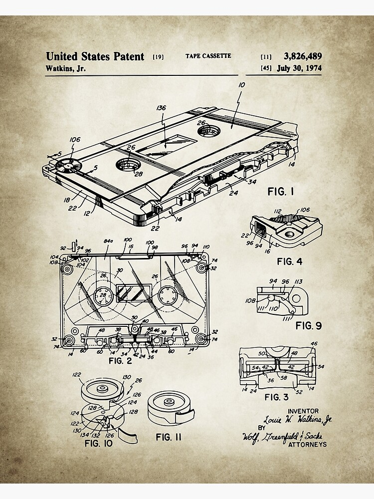 Cassette Tape Patent by Goshadron