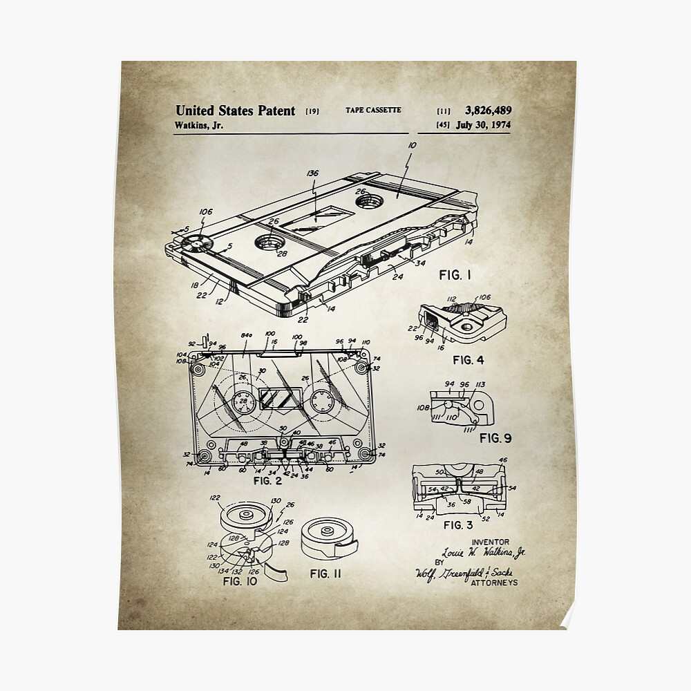 Cassette Tape Patent Poster