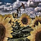 Sunflower Pumpjack by Angela E.L. Clements