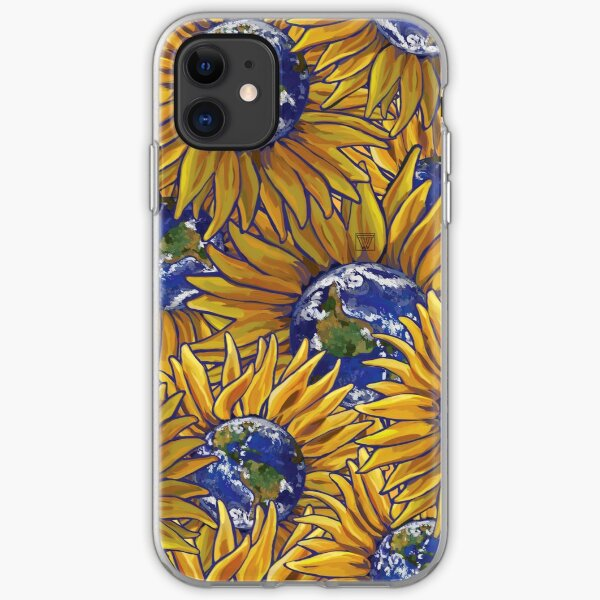 Sunflower Earth iPhone Soft Case