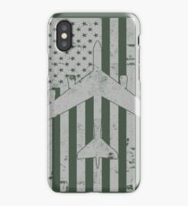 B-52 Stratofortress Distressed American Flag Design iPhone Case/Skin