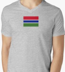 Gambia Flag Products Men's V-Neck T-Shirt