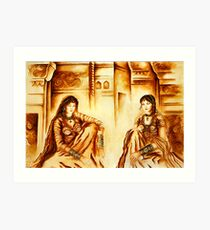"""""""SHARING THOUGHTS"""" - Joint Colloboration 1 Art Print"""