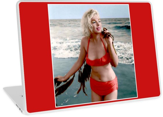 8a6ca33827fdf MARILYN MONROE : In A Red Bathing Suit Vintage Print